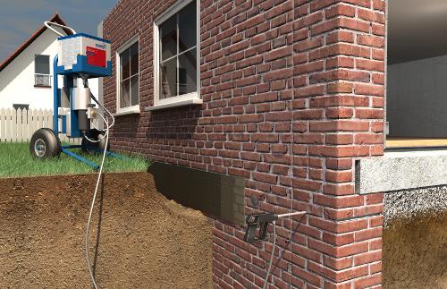Przykład aplikacji nowych wyrobów w strefie cokołowej istniejącego budynku